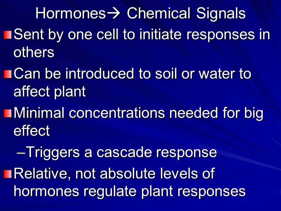 Hormones Chemical Signals