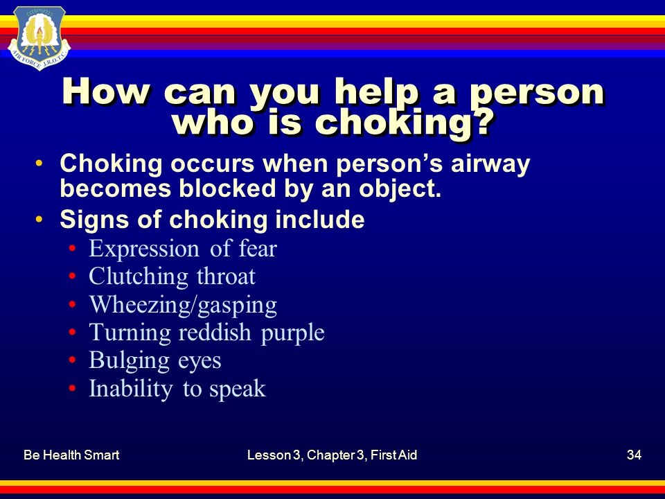 How can you help a person who is choking