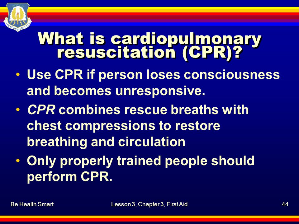 What is cardiopulmonary resuscitation (CPR)