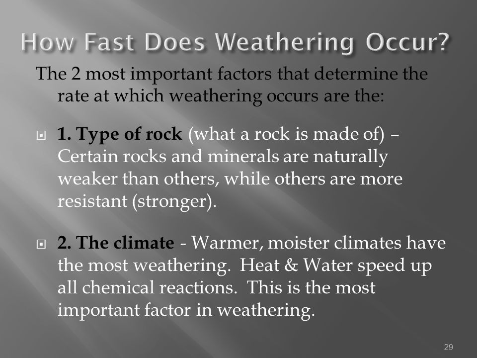 How Fast Does Weathering Occur