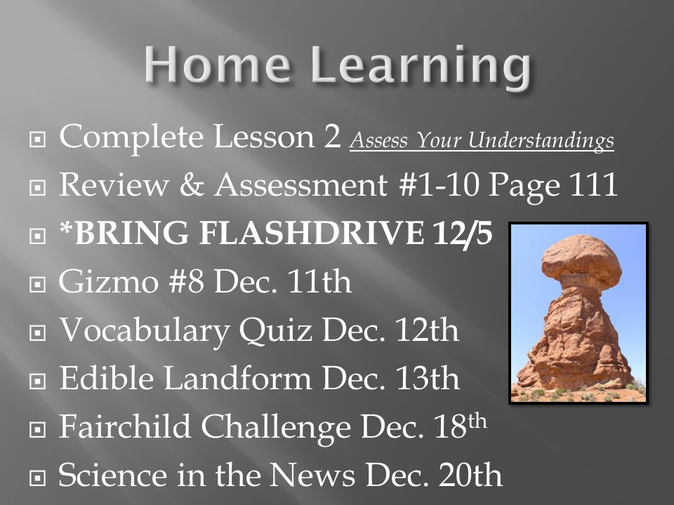 Home Learning Complete Lesson 2 Assess Your Understandings