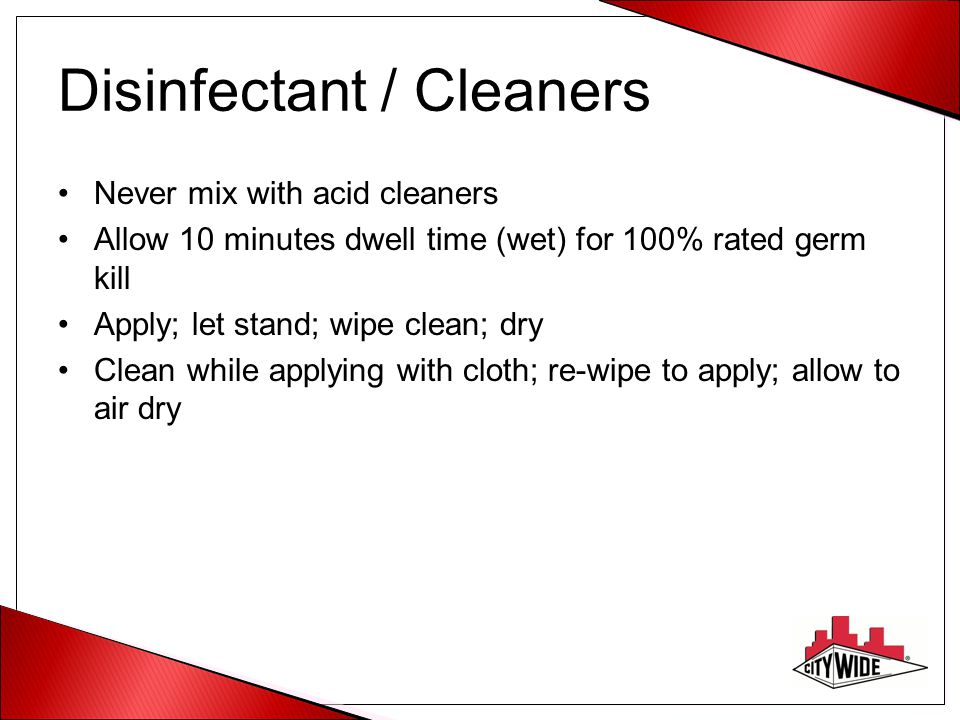 Disinfectant / Cleaners