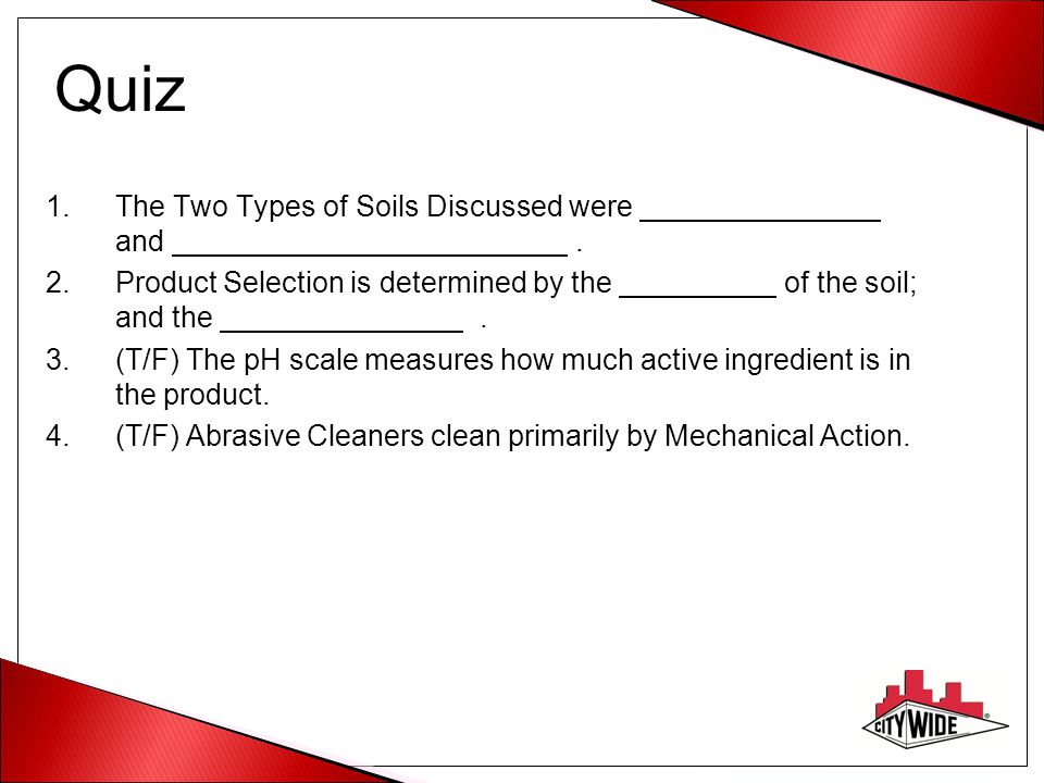 Quiz The Two Types of Soils Discussed were and .
