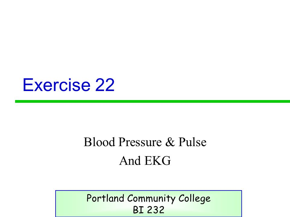 Blood Pressure & Pulse And EKG