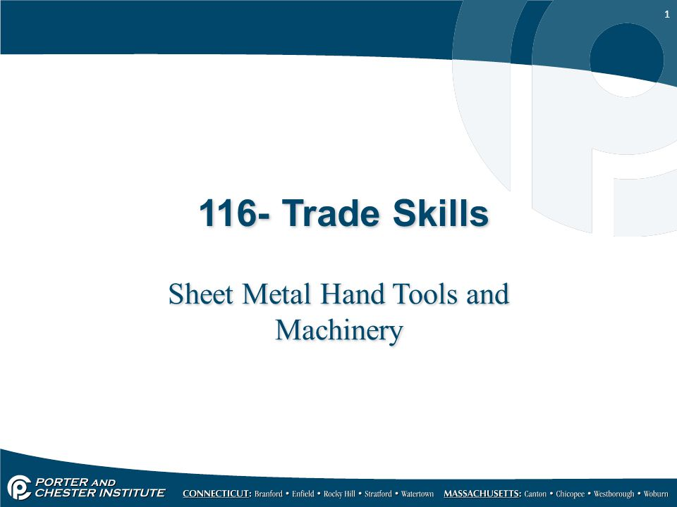 Sheet Metal Hand Tools and Machinery