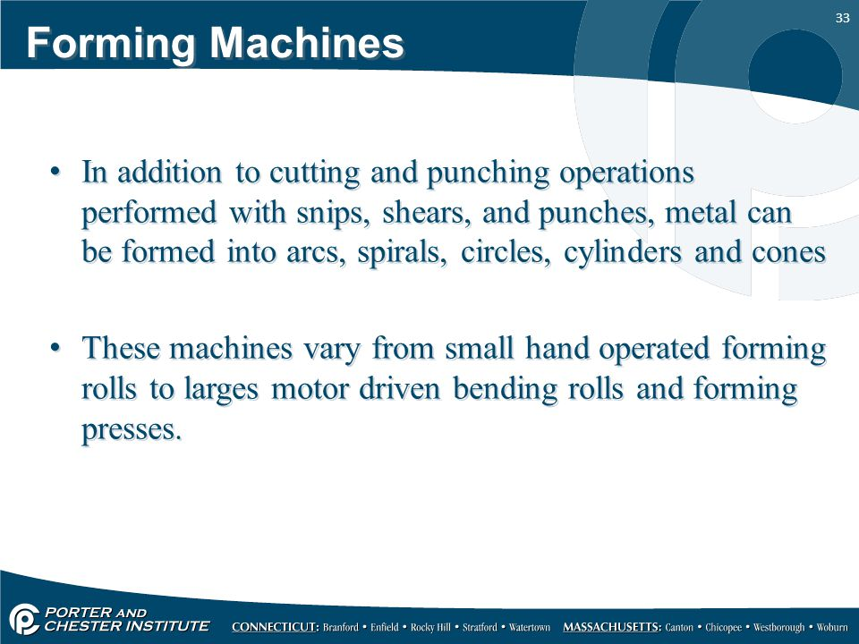 Forming Machines