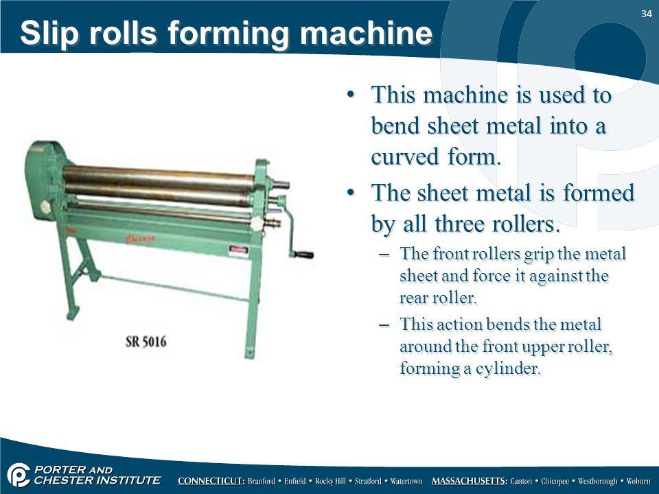 Slip rolls forming machine