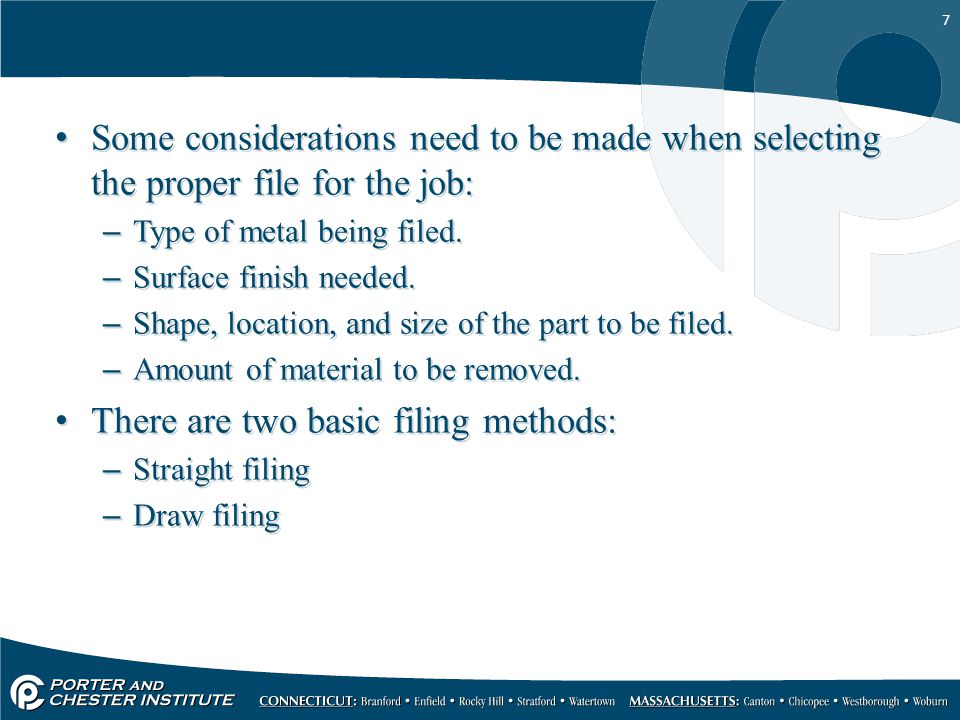 There are two basic filing methods: