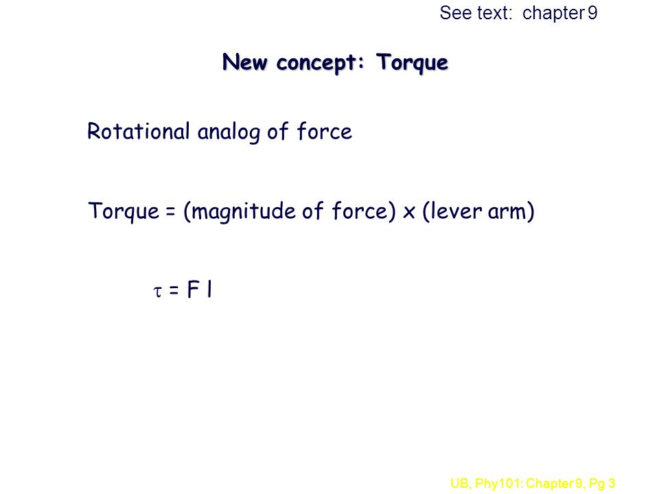 Rotational analog of force