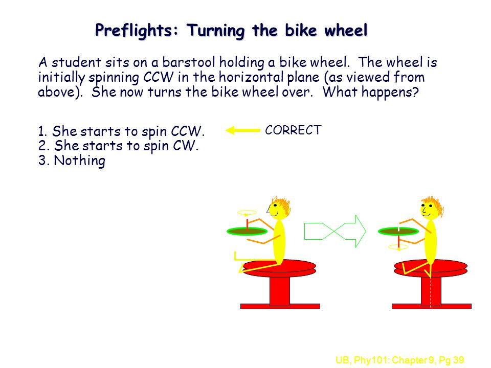 Preflights: Turning the bike wheel