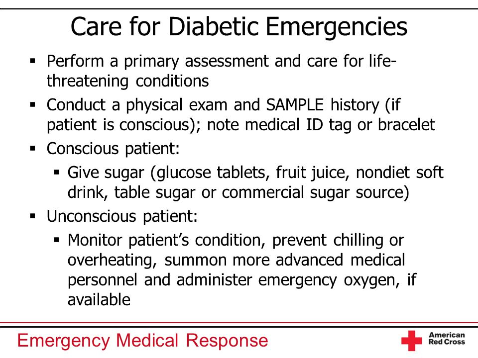 Care for Diabetic Emergencies
