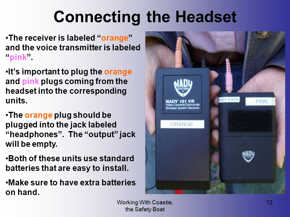 Connecting the Headset