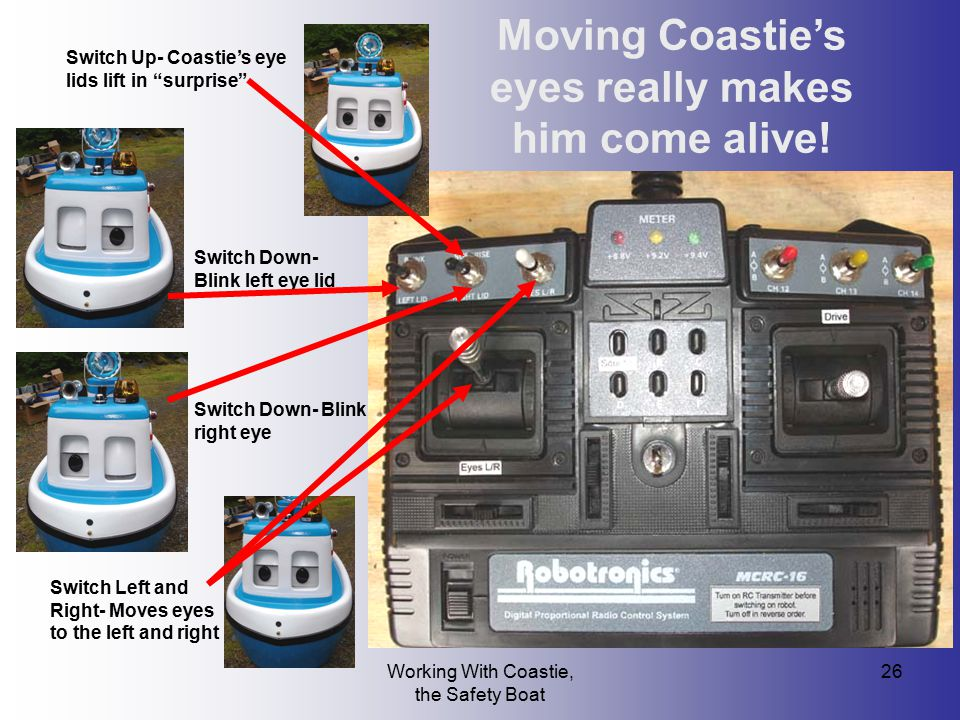 Moving Coastie's eyes really makes him come alive!