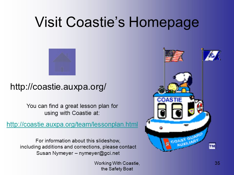 Visit Coastie's Homepage