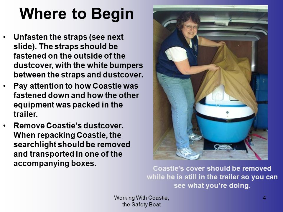 Working With Coastie, the Safety Boat