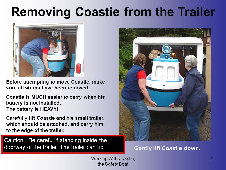 Removing Coastie from the Trailer