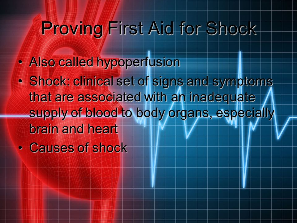 Proving First Aid for Shock
