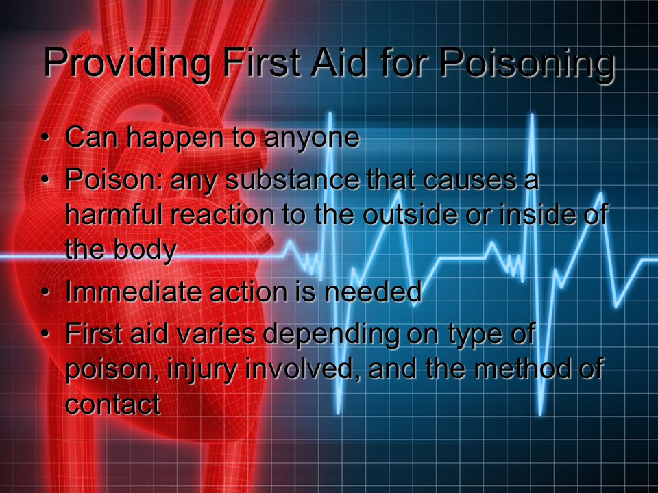 Providing First Aid for Poisoning