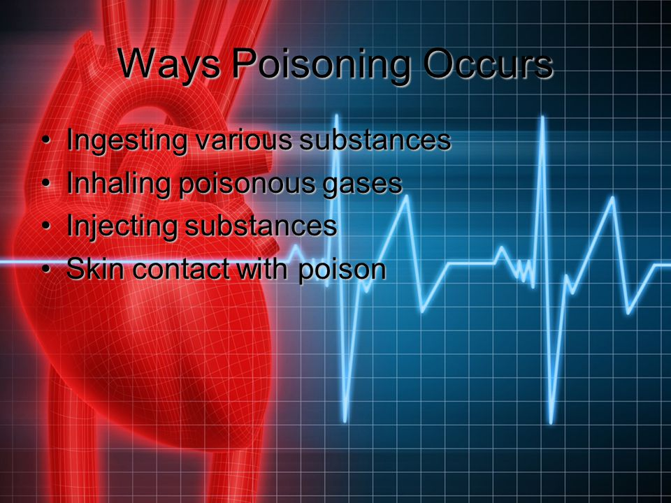Ways Poisoning Occurs Ingesting various substances