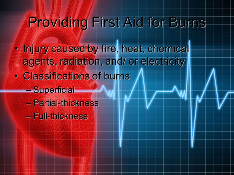 Providing First Aid for Burns