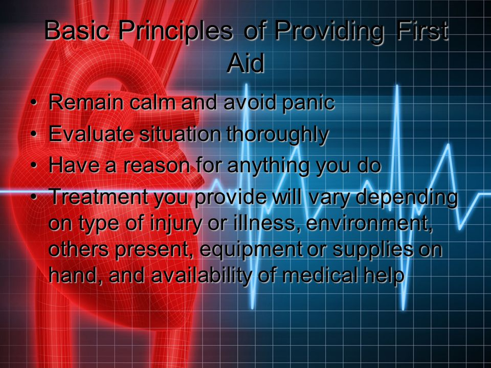 Basic Principles of Providing First Aid