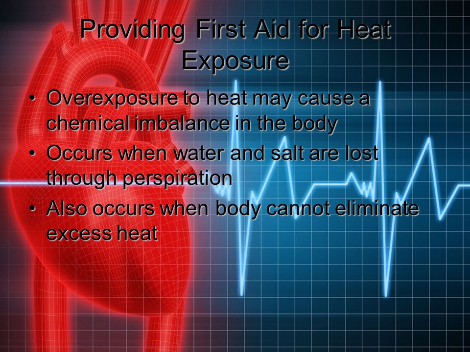 Providing First Aid for Heat Exposure