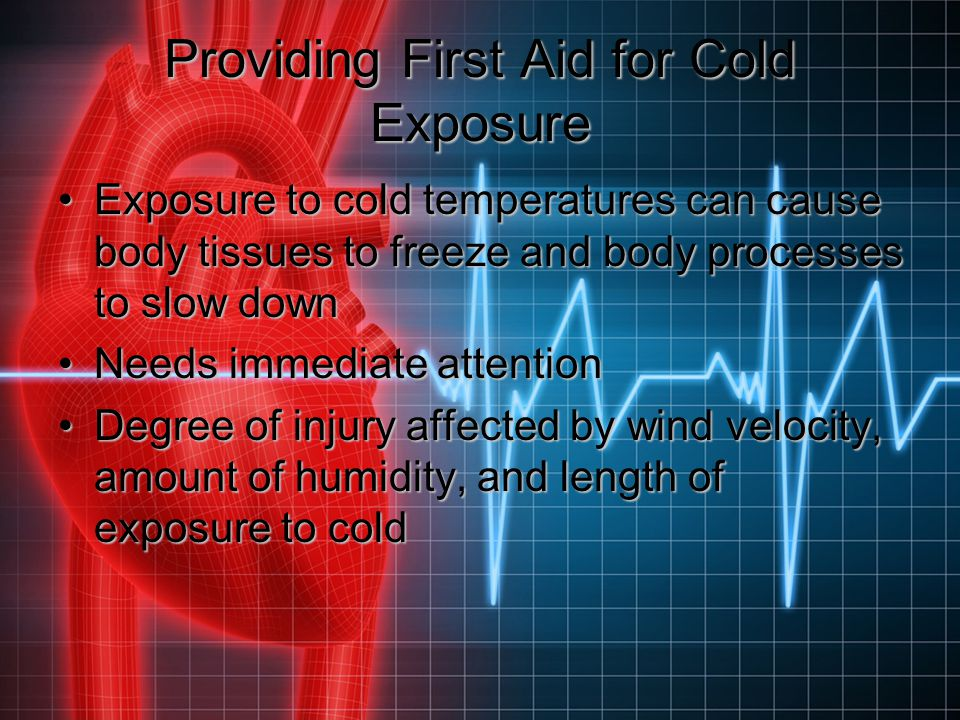 Providing First Aid for Cold Exposure