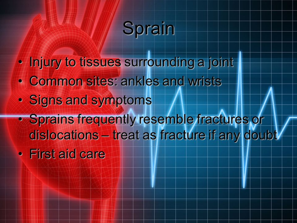 Sprain Injury to tissues surrounding a joint