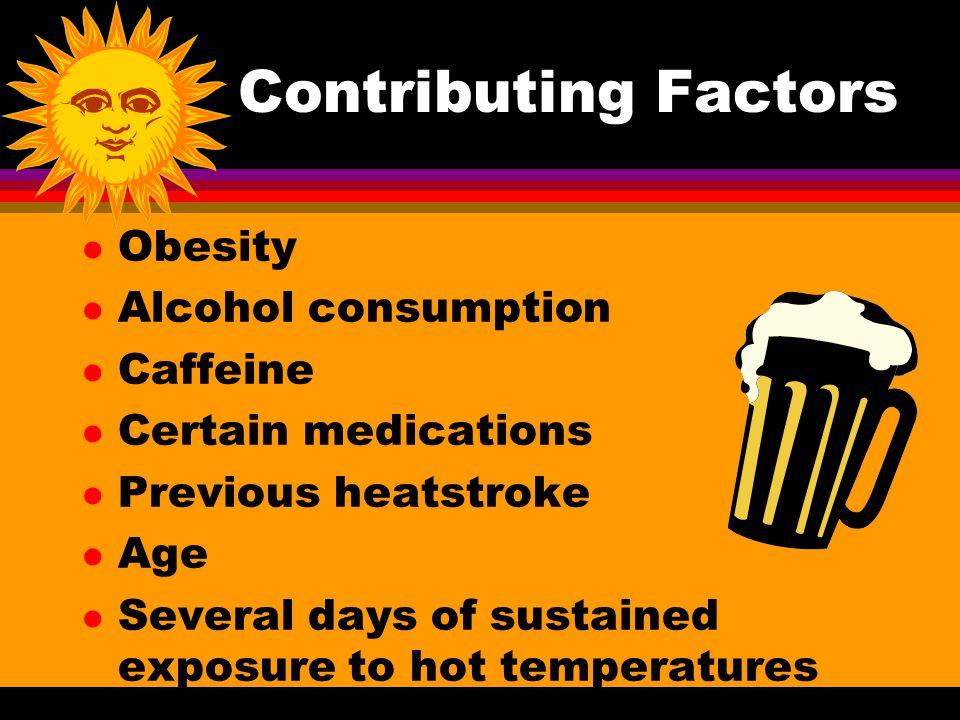 Contributing Factors Obesity Alcohol consumption Caffeine