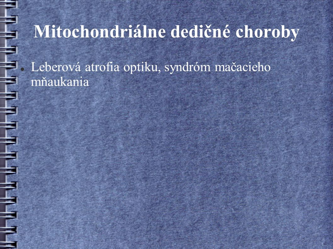 Mitochondriálne dedičné choroby