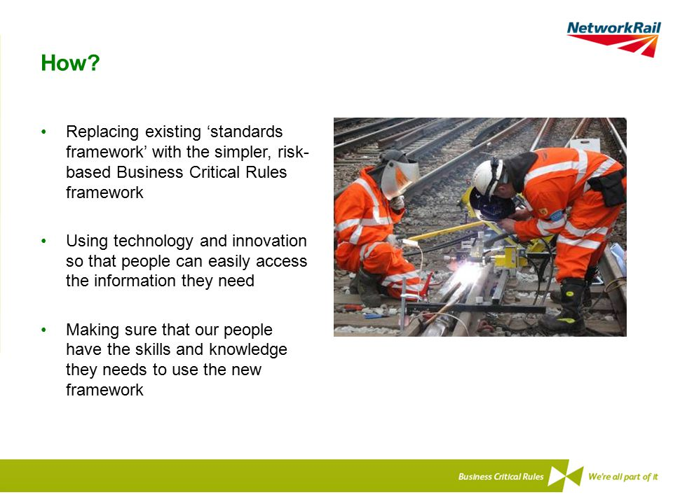 How Replacing existing 'standards framework' with the simpler, risk-based Business Critical Rules framework