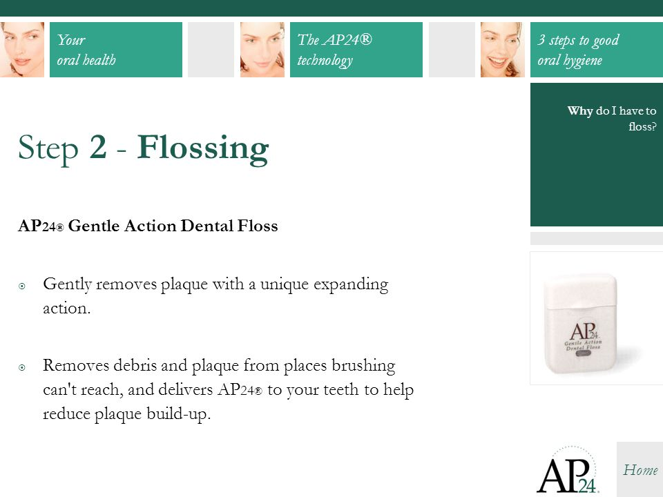 Step 2 - Flossing AP24® Gentle Action Dental Floss