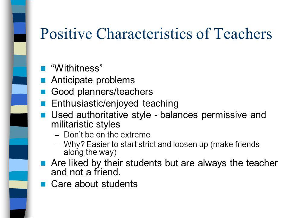 Positive Characteristics of Teachers