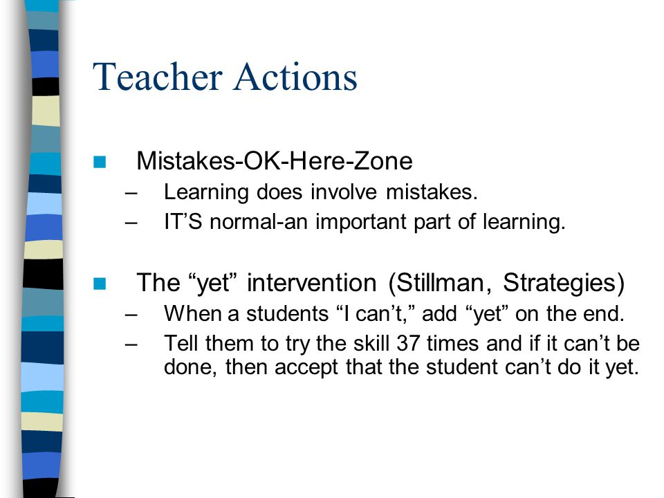 Teacher Actions Mistakes-OK-Here-Zone
