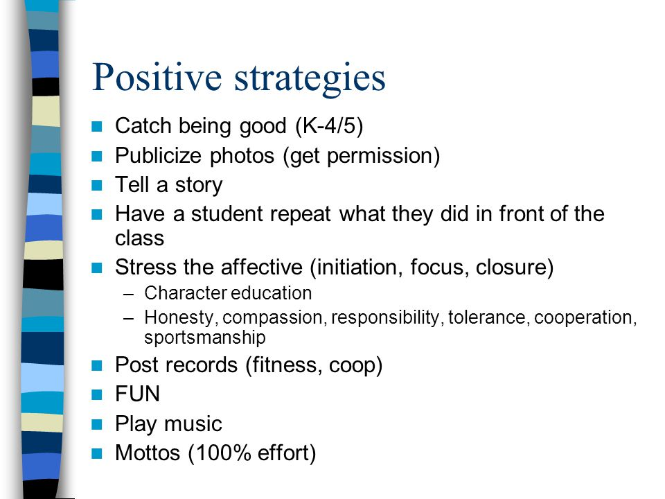 Positive strategies Catch being good (K-4/5)