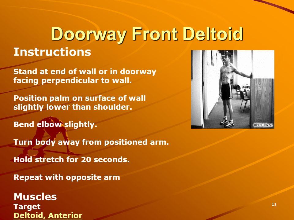 Doorway Front Deltoid Instructions Muscles