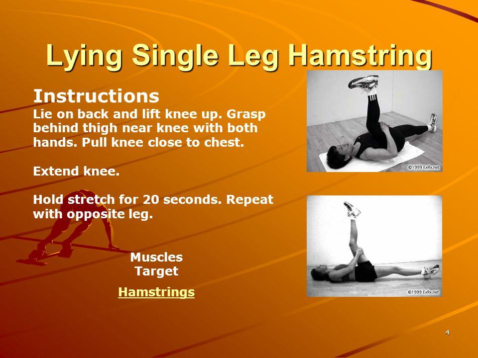 Lying Single Leg Hamstring