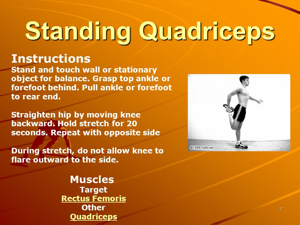Standing Quadriceps Instructions Muscles