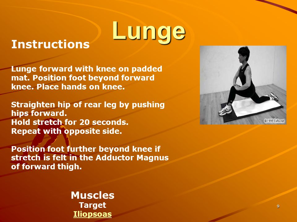Lunge Instructions Muscles