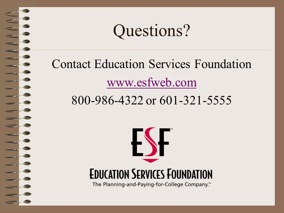 Contact Education Services Foundation