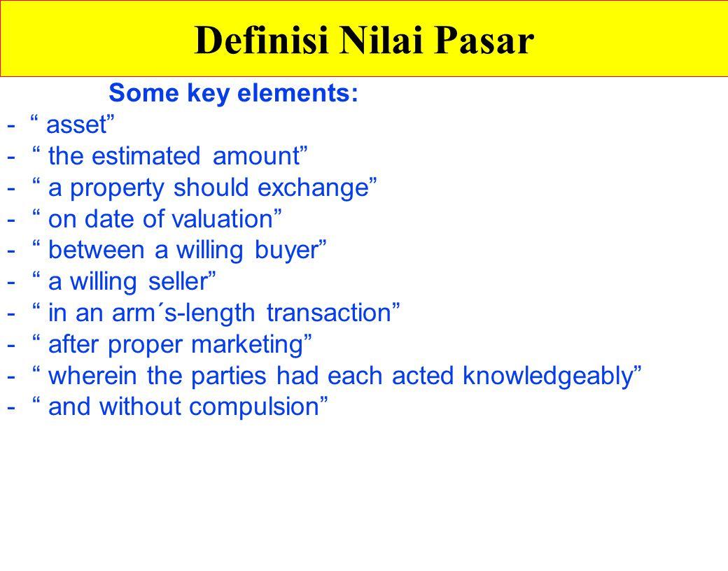 Definisi Nilai Pasar Some key elements: - asset