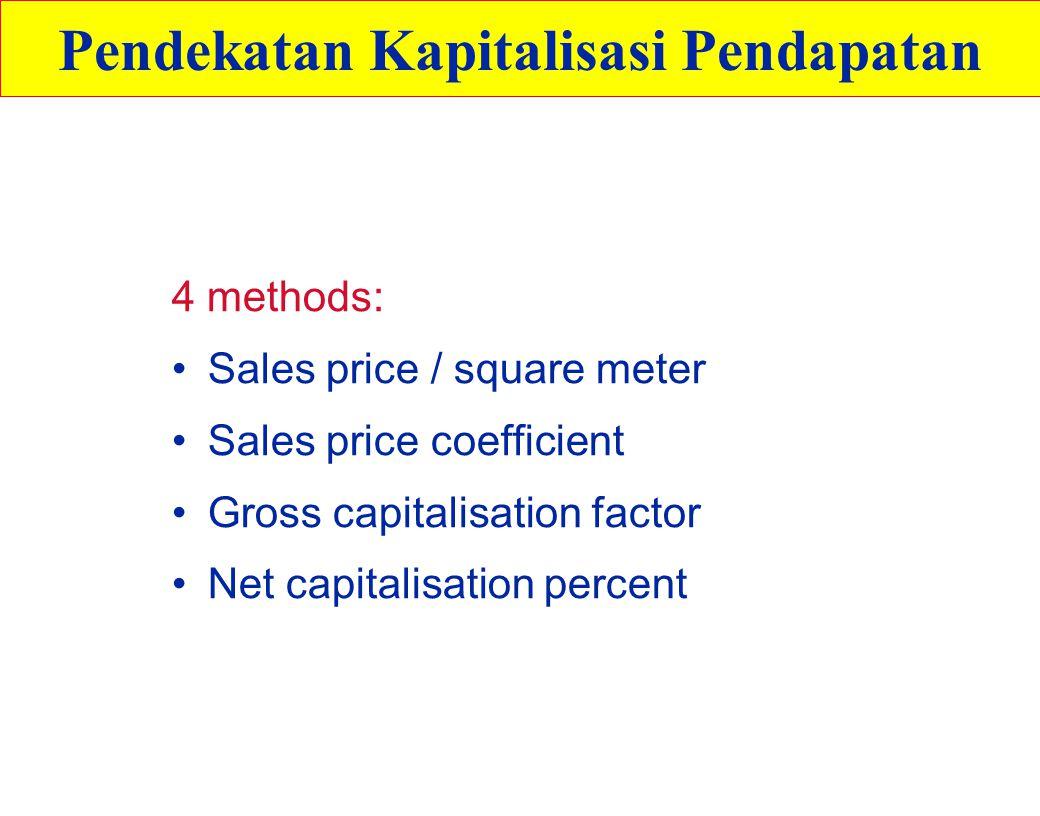 Pendekatan Kapitalisasi Pendapatan