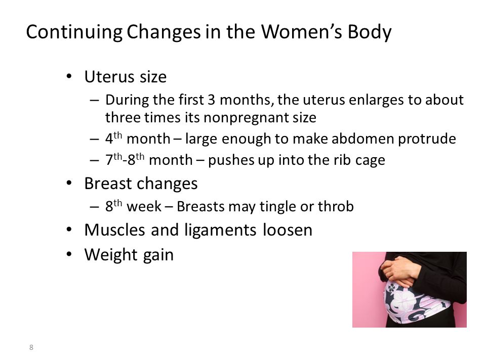 Continuing Changes in the Women's Body