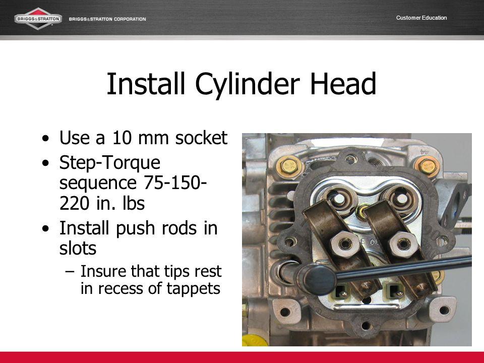 Install Cylinder Head Use a 10 mm socket