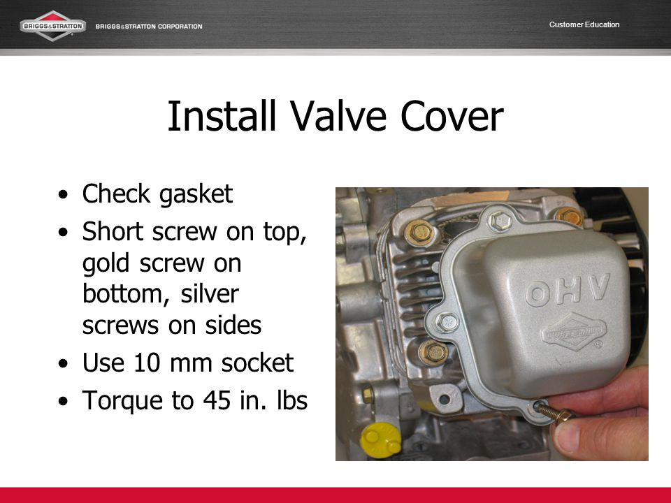Install Valve Cover Check gasket
