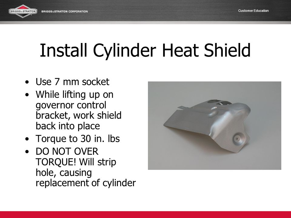 Install Cylinder Heat Shield