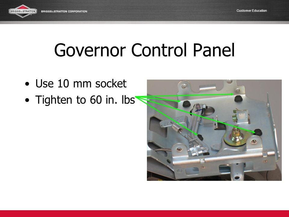Governor Control Panel
