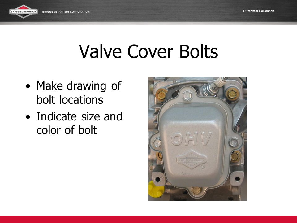 Valve Cover Bolts Make drawing of bolt locations