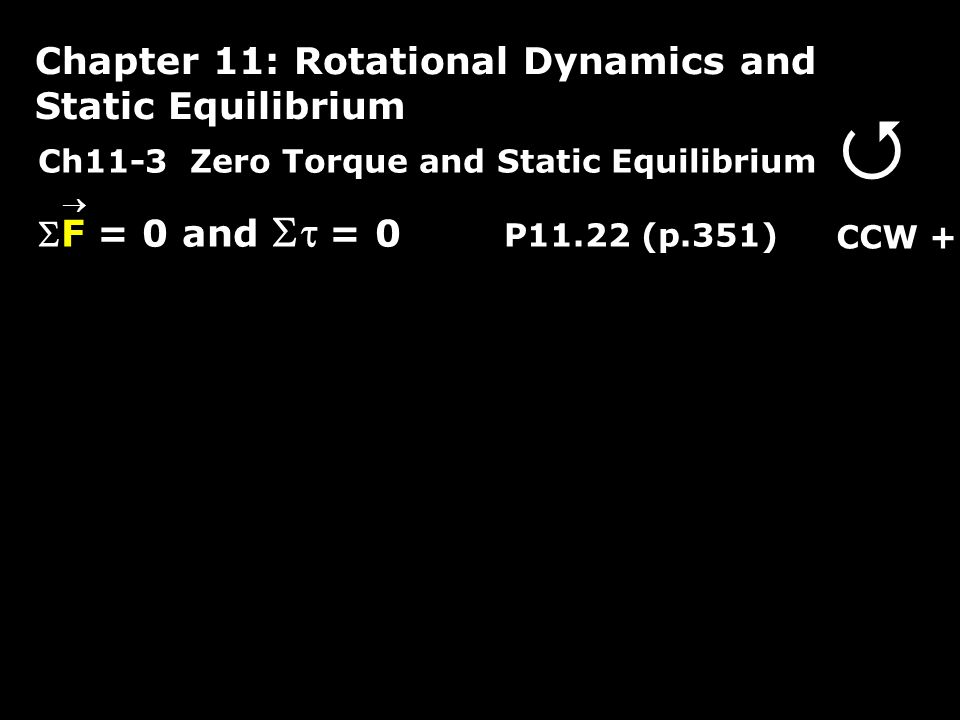  Chapter 11: Rotational Dynamics and Static Equilibrium