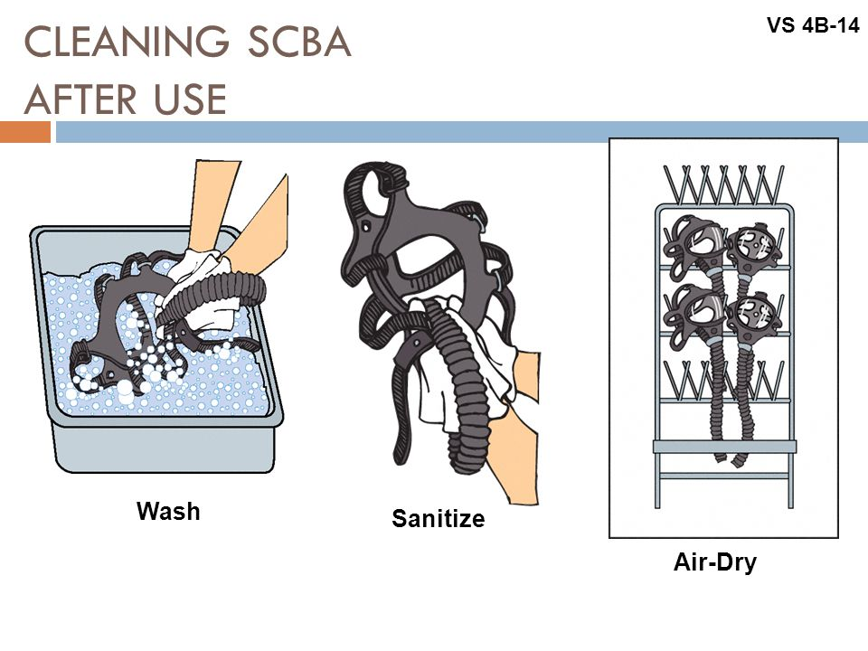 CLEANING SCBA AFTER USE
